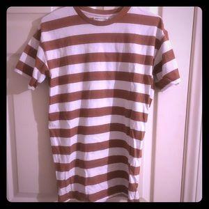 URBAN OUTFITTERS | Burnt Orange white striped tee
